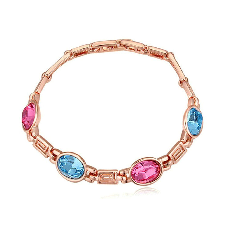 Beydodo rose gold plating bracelets for women aaa cubic zirconia