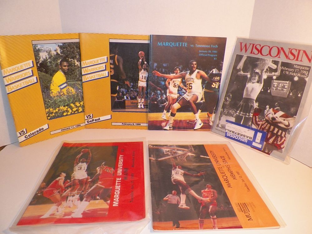 1980s Marquette University Warriors Basketball Program Lot