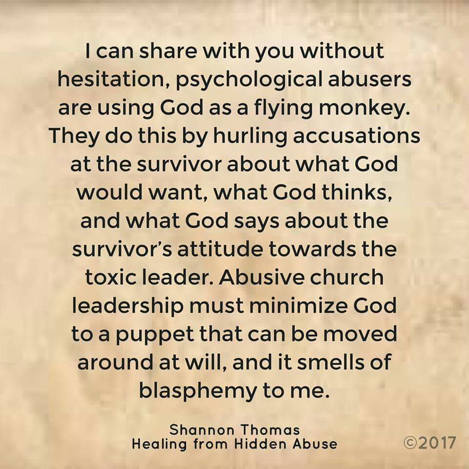 "Spiritual Abuse is a form of psychological abuse. ""Healing from Hidden Abuse:  A Journey Through the Stages of Recovery from Psychological Abuse"" is ..."