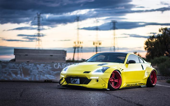Download Wallpapers Rocket Bunny Tuning Nissan 350z 4k