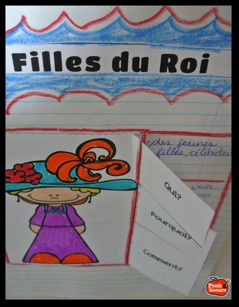 Les Filles Du Roi Cahier Interactif De La Nouvelle France Vers 1645 Art Classroom French Education Ontario Curriculum