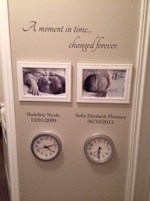 Family Wall Decal - A Moment In Time changed forever with set of names and dates - Family room decor - Wallapalooza Wall Decals - Wall Art #usquotes