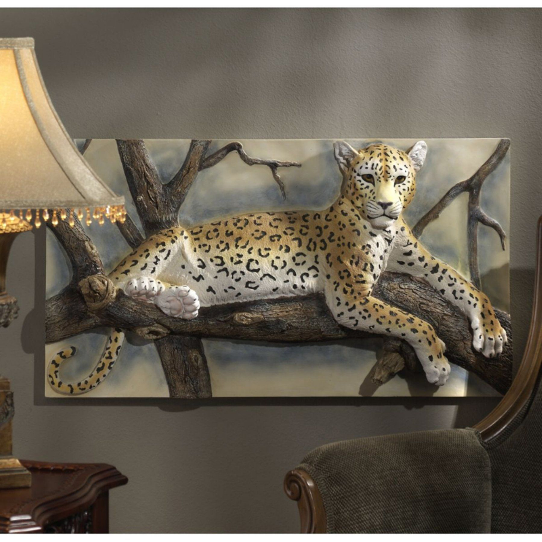 Design Toscano The Leopards Lair Sculptural Wall Frieze - NG33377