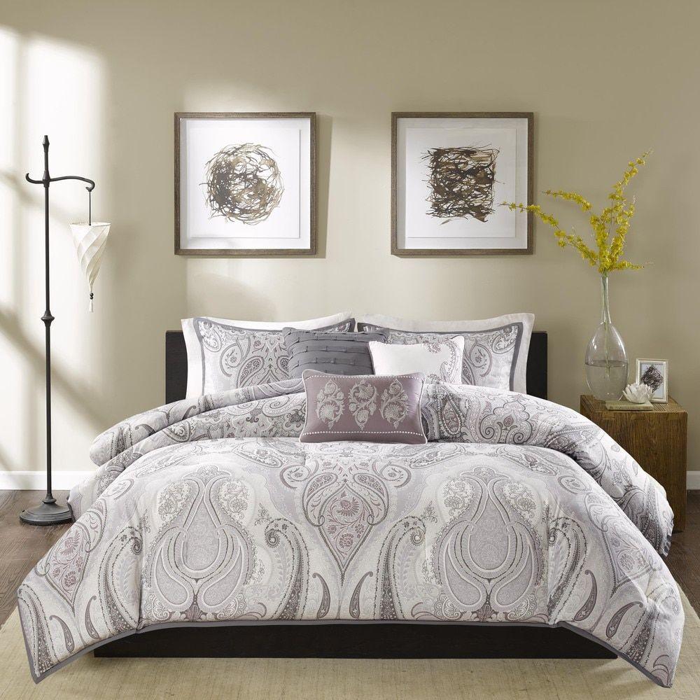 madison park morena cotton duvet cover 6 piece set