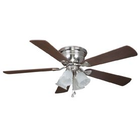 Shop harbor breeze centerville 52 in brushed nickel flush mount shop harbor breeze centerville 52 in brushed nickel flush mount ceiling fan with light kit mozeypictures Gallery