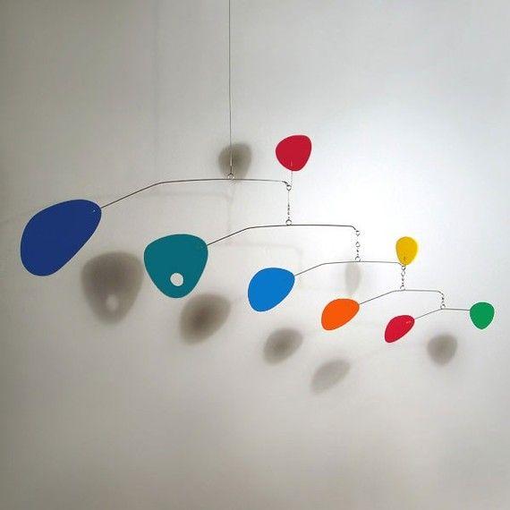 Modern Hanging Mobile Art Sculpture Modernist Small Baby Nursery