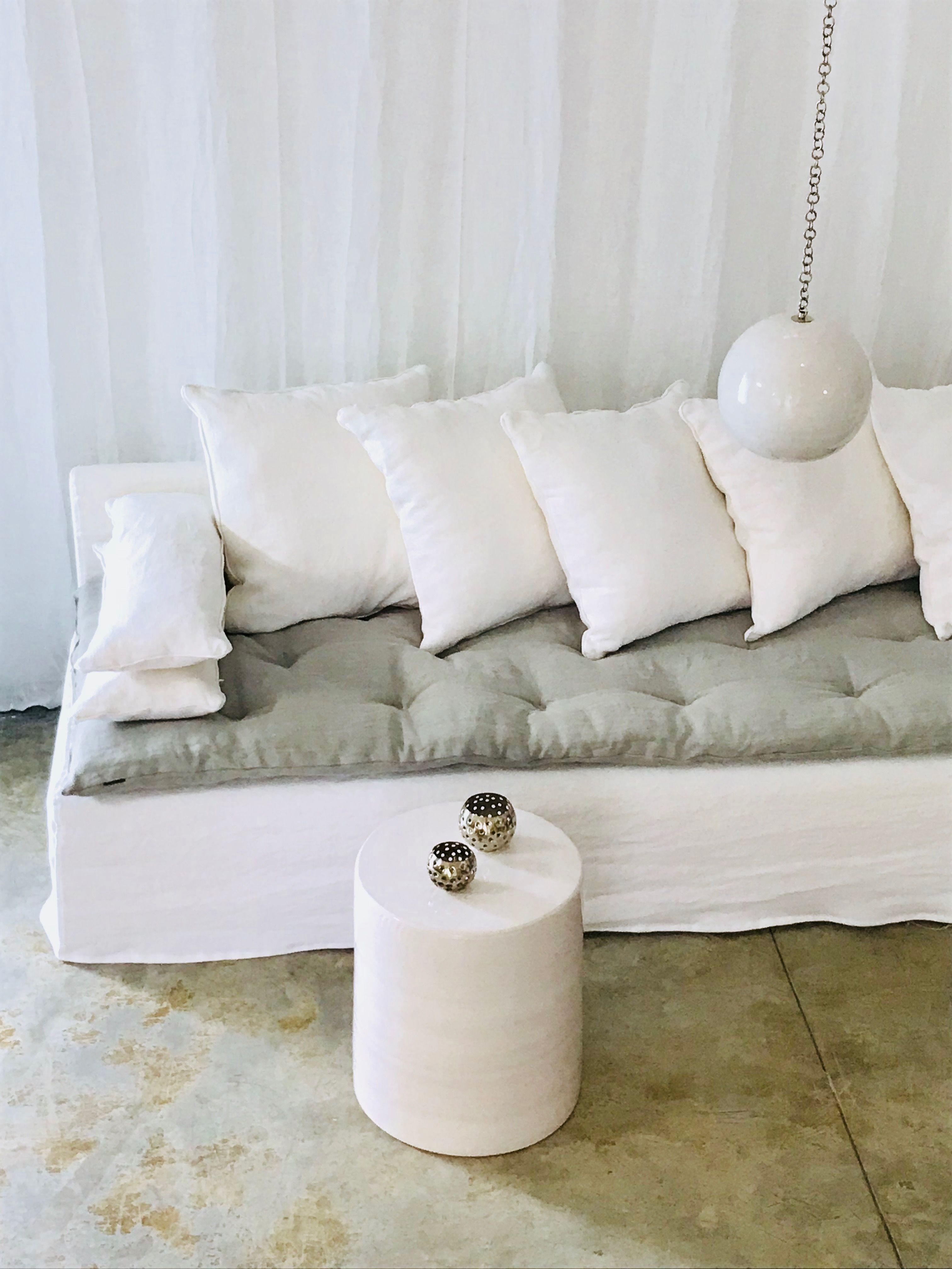 Canap Sacha Sur Mesure Lin Lav Blanc Et Son Sofa