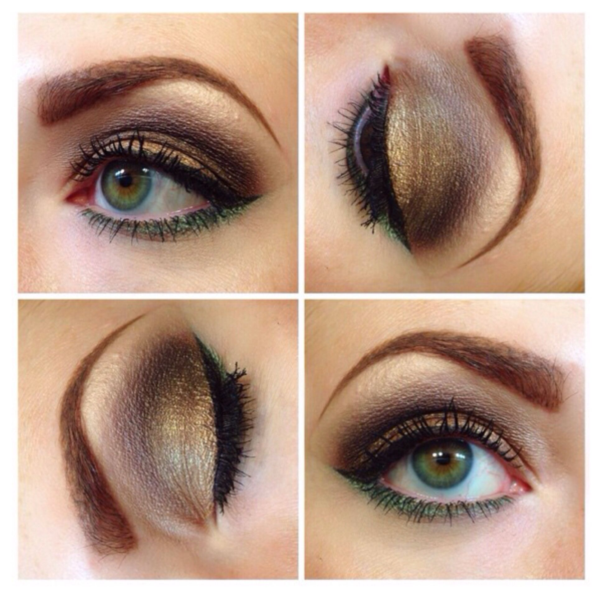 Gold and earthy eye by Merle Norman! Makeup looks