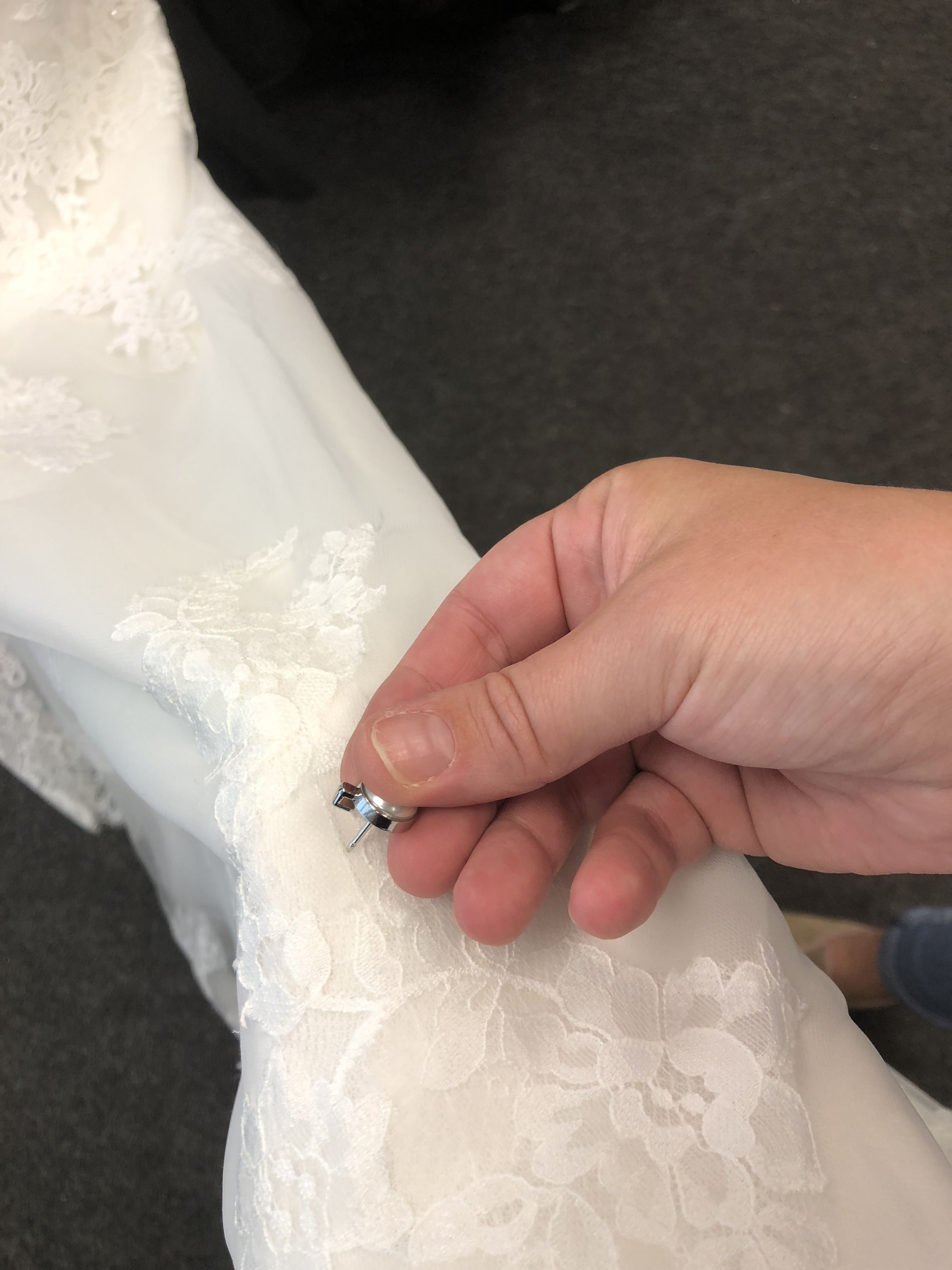 A Trainloop Simply Pins Through Your Wedding Dress Train Absolutely No Sewing Needed So Can Be Done On Your Wedding Da Wedding Dress Bustle Wedding Day Checklist Wedding Dress Train