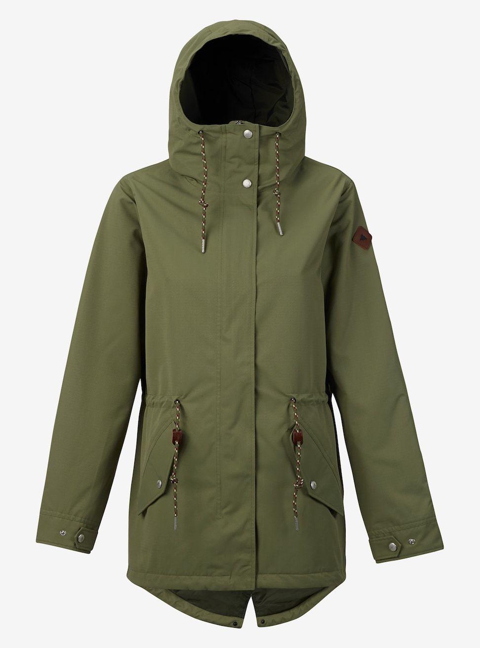 Burton Sadie Rain Jacket shown in Lichen Green | fashion ...