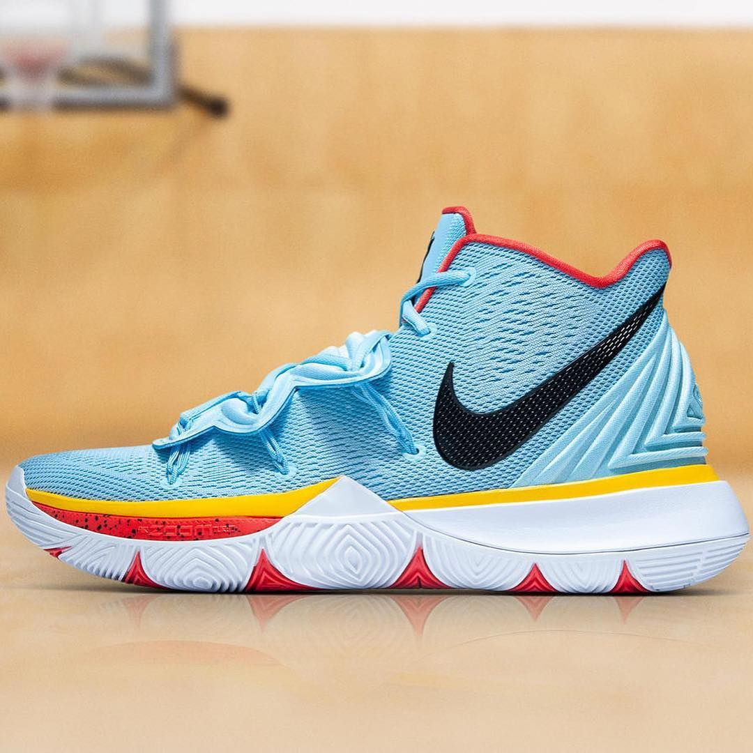 "6d3aa2c556e2 Nike Kyrie 5 PE ""Little Mountain"" for  kyrieirving . The shoe s tongue  features a Standing Rock Sioux Tribal seal decal"