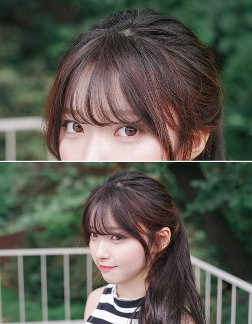 Korean Bangs Thin Version Non Shiny Short Hair With Bangs Hair Styles Hairstyles With Bangs