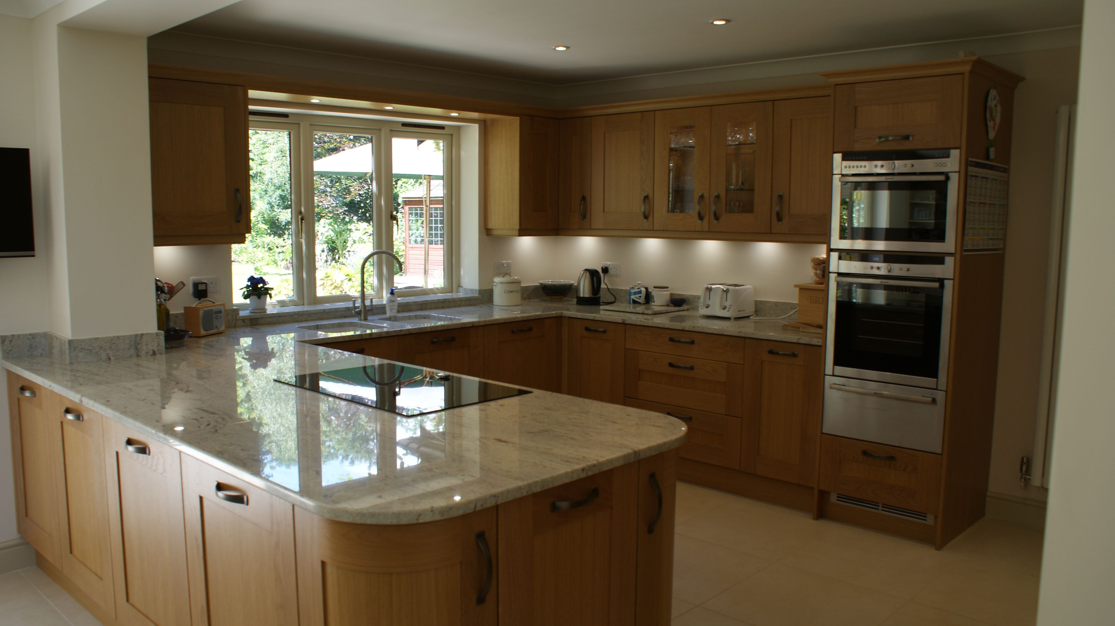 traditional contemporary kitchens. Traditional Contemporary Solid Oak Shaker Kitchen In Woking Surrey With River Valley White Granite Worktops. Designed \u0026 Fitted By Orchardkitchens.com Kitchens H