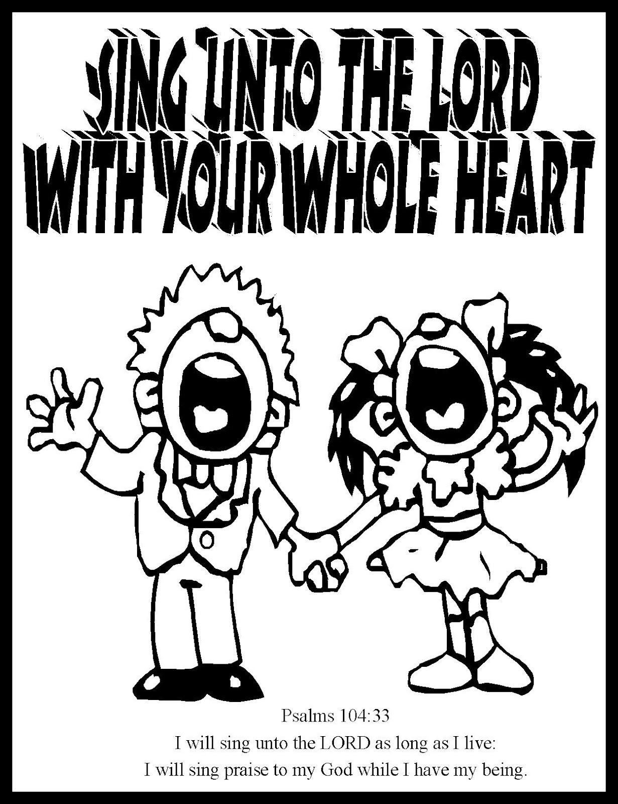 Sing Unto The Lord Coloring Page Look Into The Immanuel