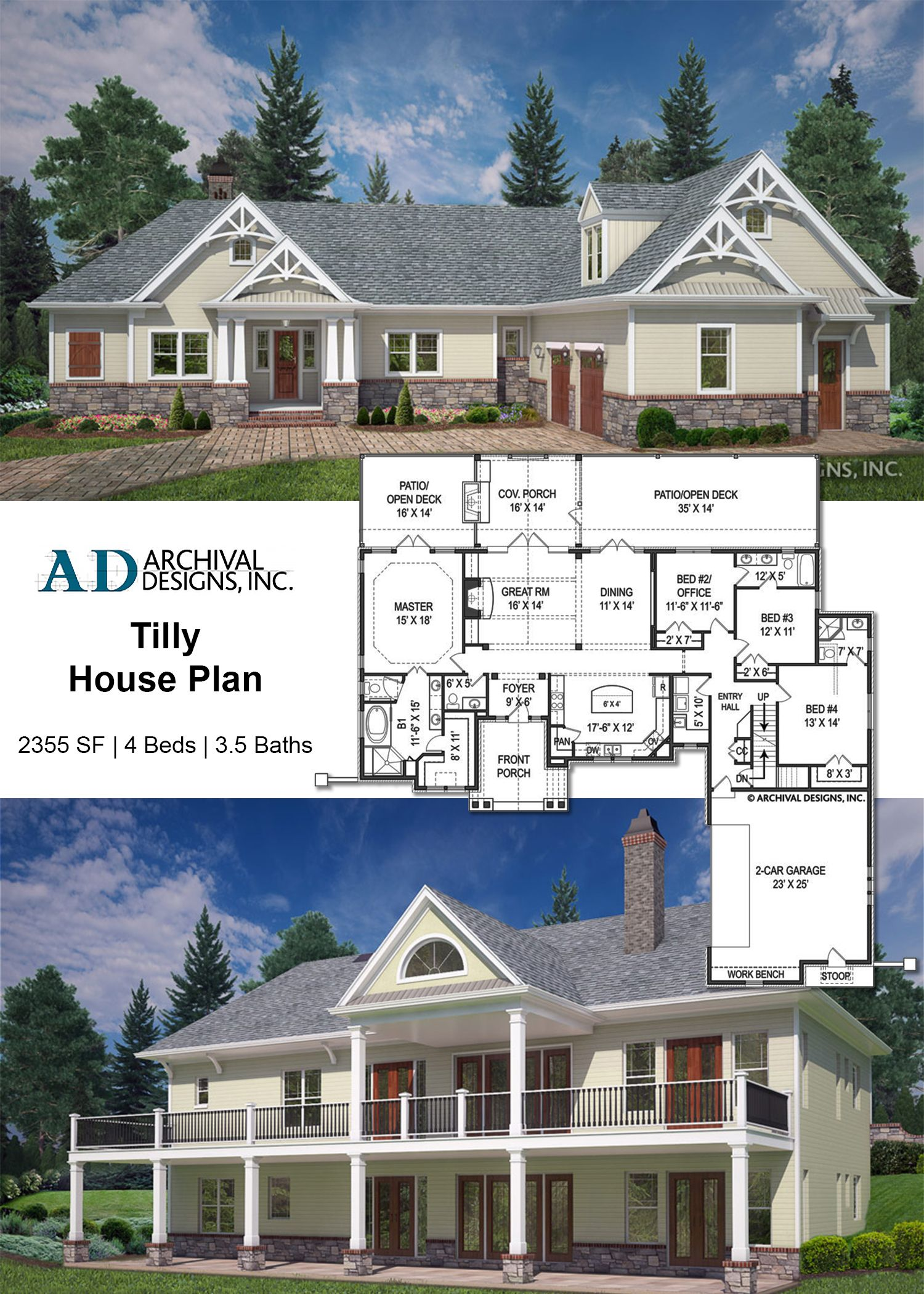 the tilly house plan with its craftsman style and cottage