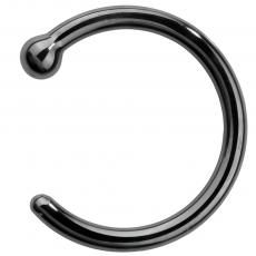 20 Gauge Black Ball Basics Nose Ring Hoop Piercings Oufer Body Jewelry Nose Rings Hoop Nose Ring Sizes Nose Ring