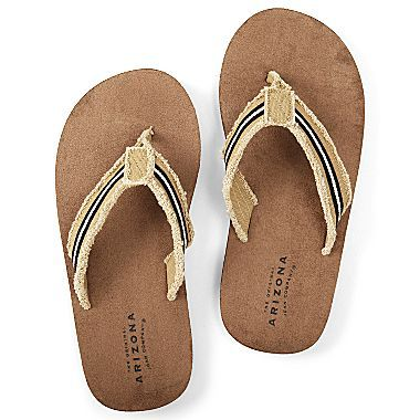 e1aef9f03e0c Arizona Mens Frayed-Edge Flip Flops - jcpenney
