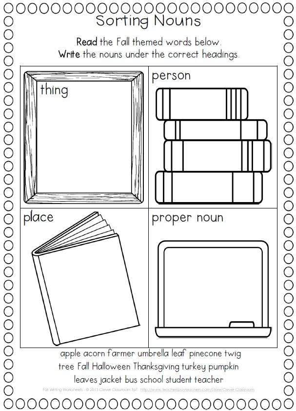1st Grade reading and writing worksheets for 1st grade : Fall Activities Worksheets | Fall words, Writing worksheets and ...