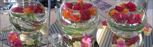 Tropical corporate centrepiece hire auckand cbd wedding tropical rose bowl weddng centrepieces for hire auckland junglespirit