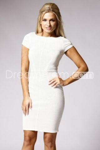 White Column Mini/Short Party/Formal Dresses Jessy S D175