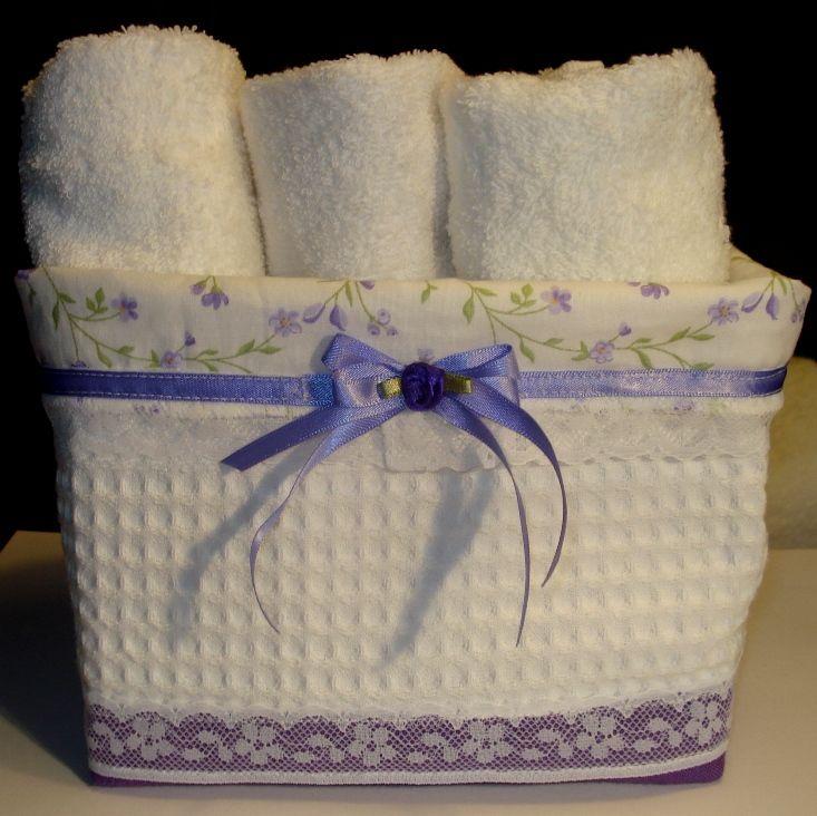 Molto Cestino di tessuto utilizzato come porta asciugamani. | Cucito  FV56