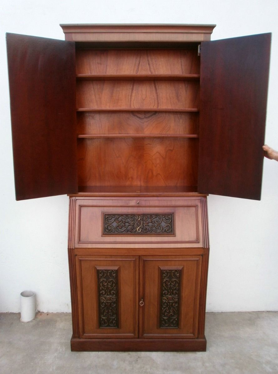 Mueble cristalero ingles bureau bar secreter comedor excel 3 muebles pinterest buro bar y - Mueble secreter ...
