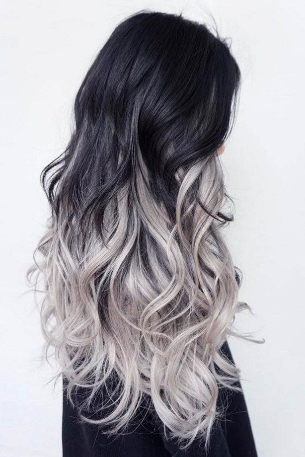 50 Silver And White Highlights Hair For Eternal Youth 5 Grey Ombre Hair Silver Ombre Hair Black Hair Ombre