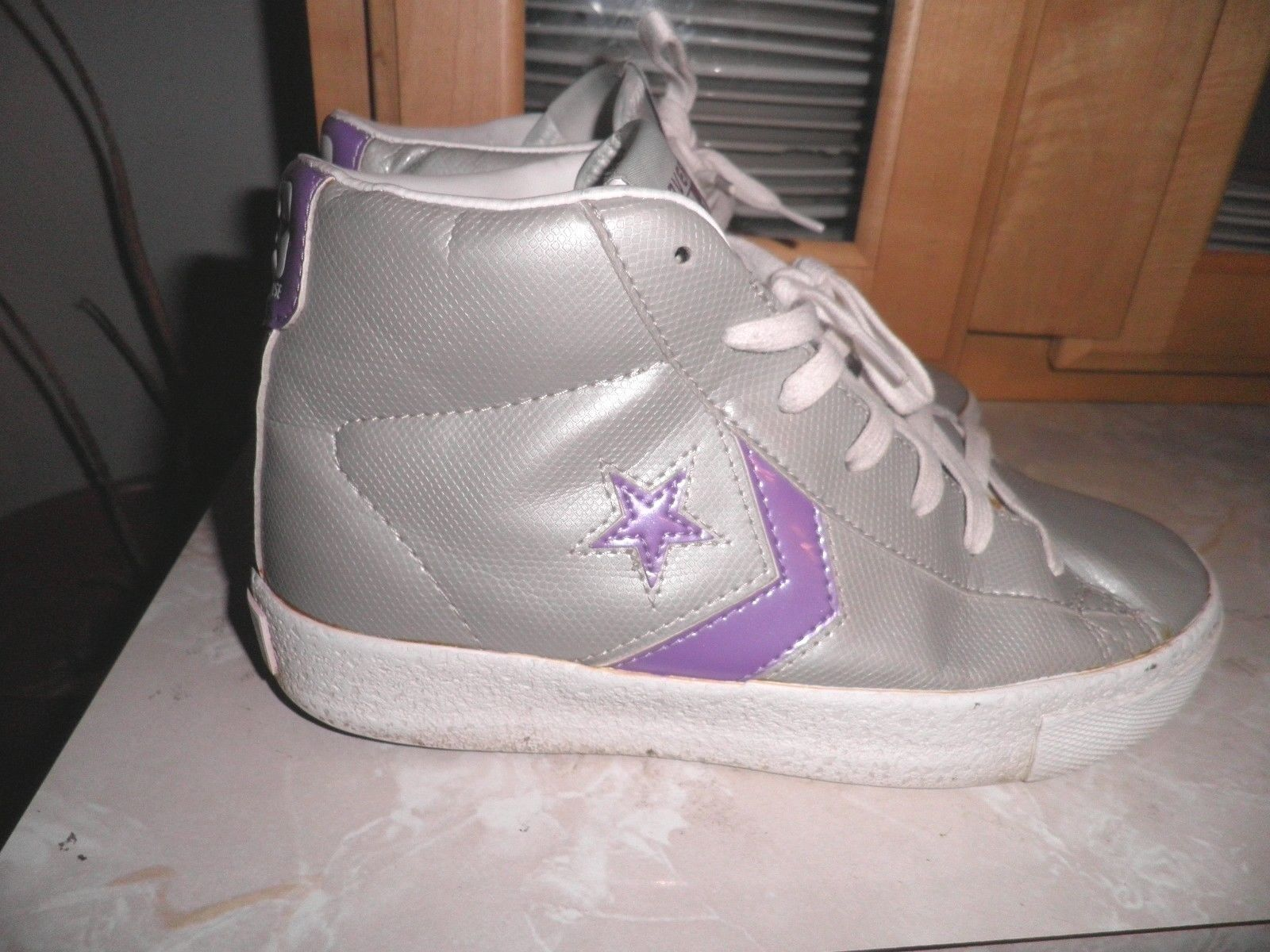 Converse Cons One Stars Steal the Show Shoes Gray Purple Size 4.5 Kids 6  Womens  be498b7bb5