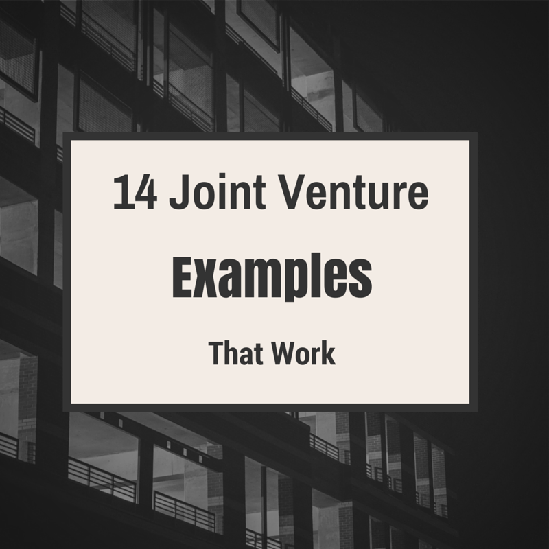14 Joint Venture Examples That Work Pinterest Joint Venture