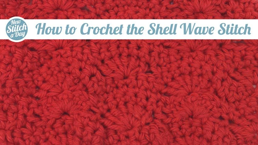 How to Crochet the Shell Wave Stitch | Proyectos que intentar ...