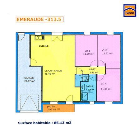 Plan De Maison Plein Pied Gratuit 3 Chambres Plans maisons - maisons plain pied plans gratuits