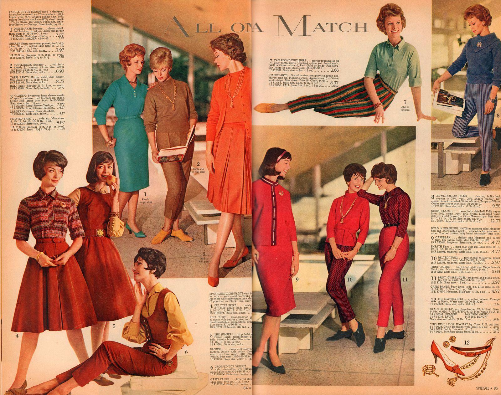 White Wash Spiegel : Retrospace: catalogs #50: spiegel fall & winter 1961 part 3 gfkmnj