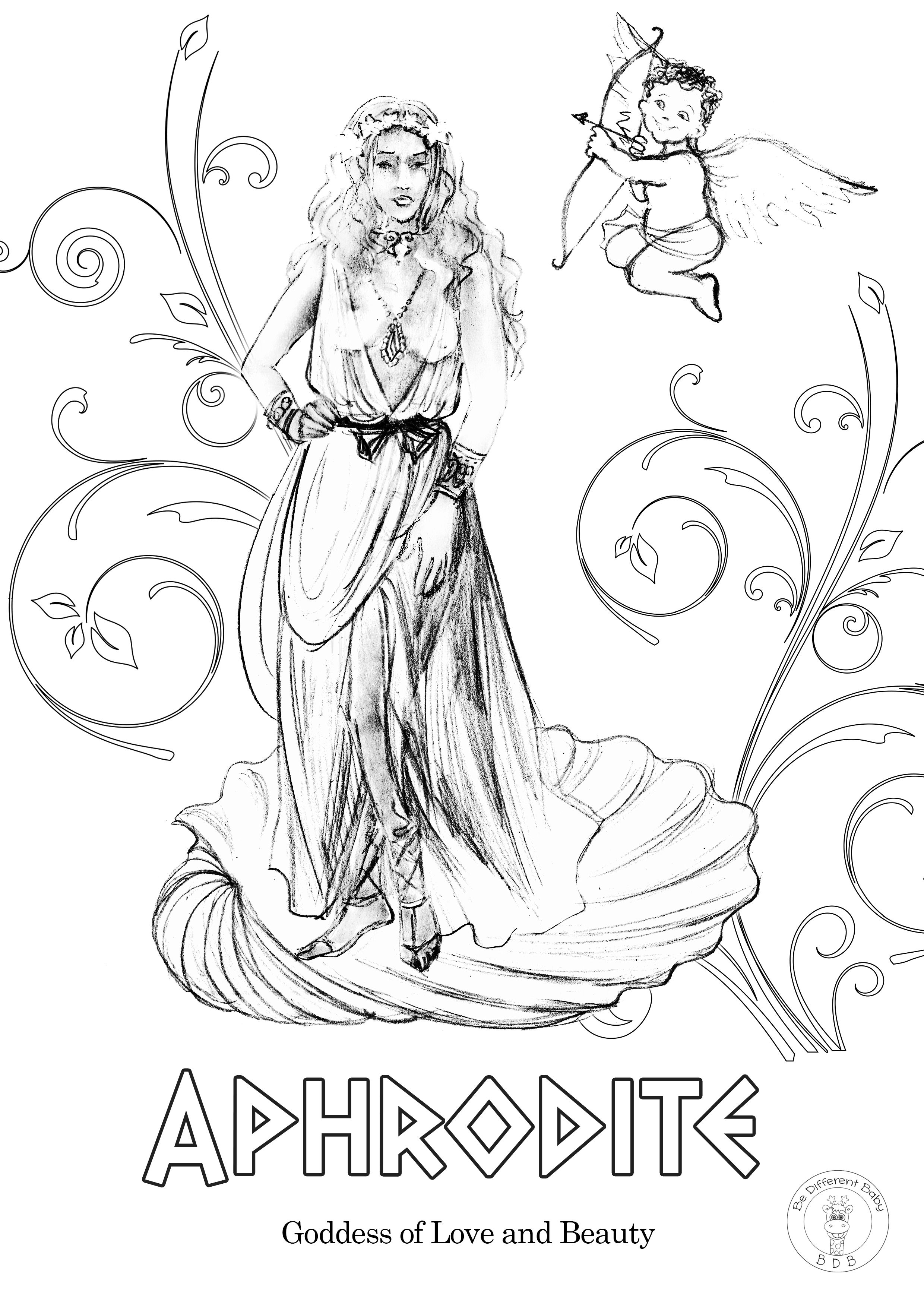 Greek Gods Coloring Pages in 2020 | Coloring pages, Greek ...
