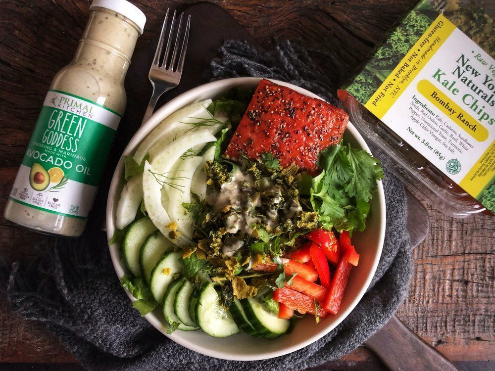 The Athlete Food Winter Power Bowl with Green Goddess Dressing #athletefood One of our favorite training foods is a super easy-to-assemble, no-cook Power Bowl. We came up with this idea during the height of summer when turning on the oven to cook after a long, hot training day was just not an option.  But even in these frozen days of winter (when turning on the oven is a we #athletefood The Athlete Food Winter Power Bowl with Green Goddess Dressing #athletefood One of our favorite training food #athletefood