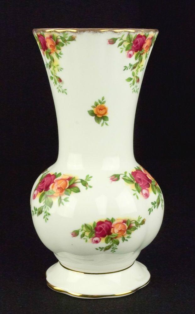 Royal Albert Old Country Roses 17cm Montrose Stem Vase VGC