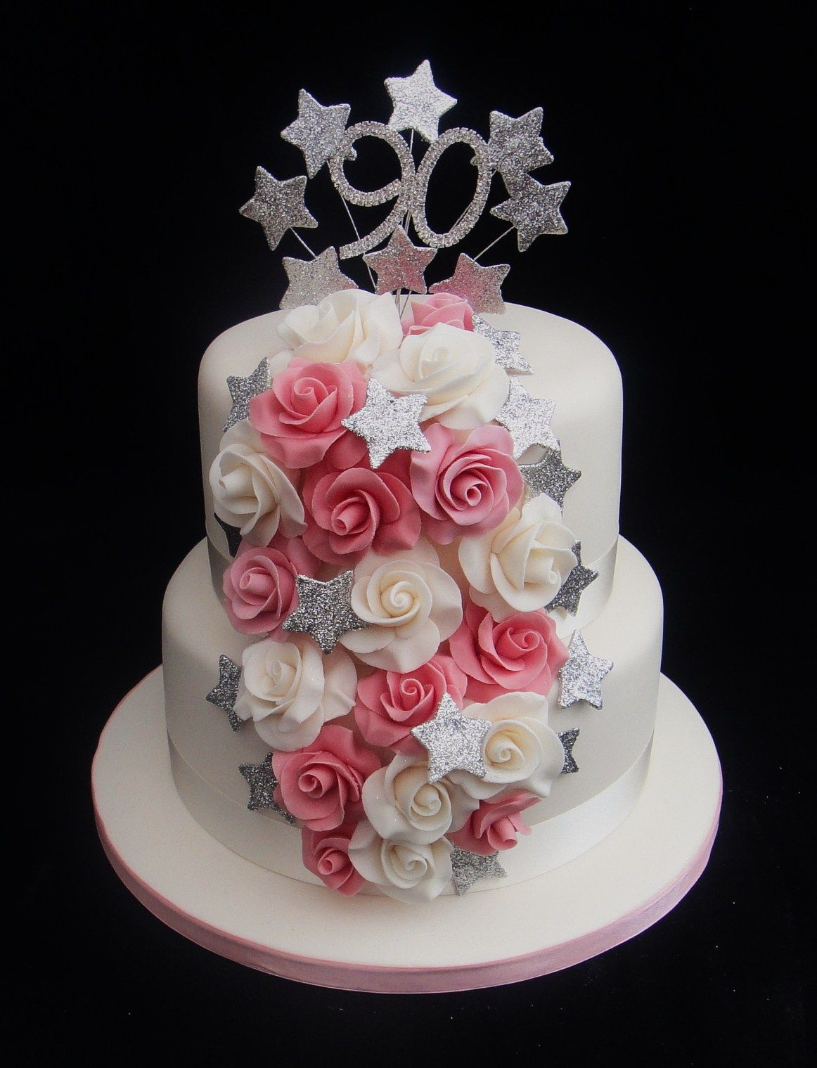 Cake Designs For 60th Birthday : Hand Moulded Roses Birthday Cake 07917815712 www ...
