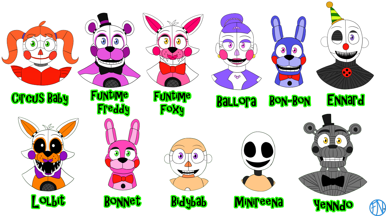 """ALL FNAF-related"""" FNAFNations' Reference Sheet (Part 4"""