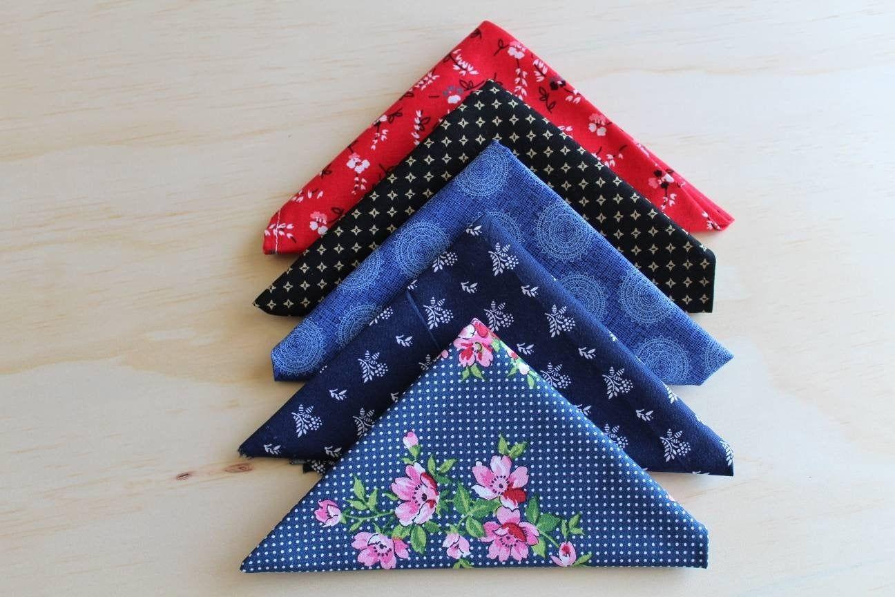 Men Pocket Squares - Men Handkerchief - Pocket Squares - Pocket Square Set - Men Gift Ideas Anniversary - Unique Men Birthday Gift