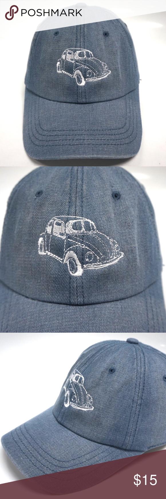 Volkswagen VW Bug Dad Hat Slouch Cap Volkswagen VW Bug Dad Hat Color  Denim  Blue c840ccda8dd