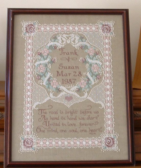 Free Wedding X Stitch Patterns Wedding Sampler Counted Cross