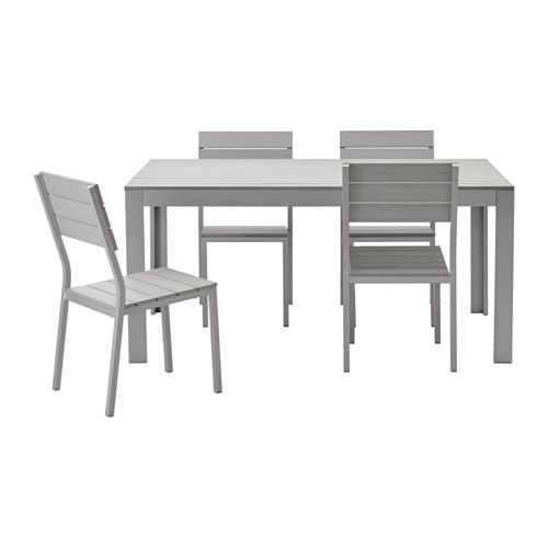 FALSTER Table And 4 Chairs, Outdoor IKEA Polystyrene Slats Are  Weather Resistant And Easy