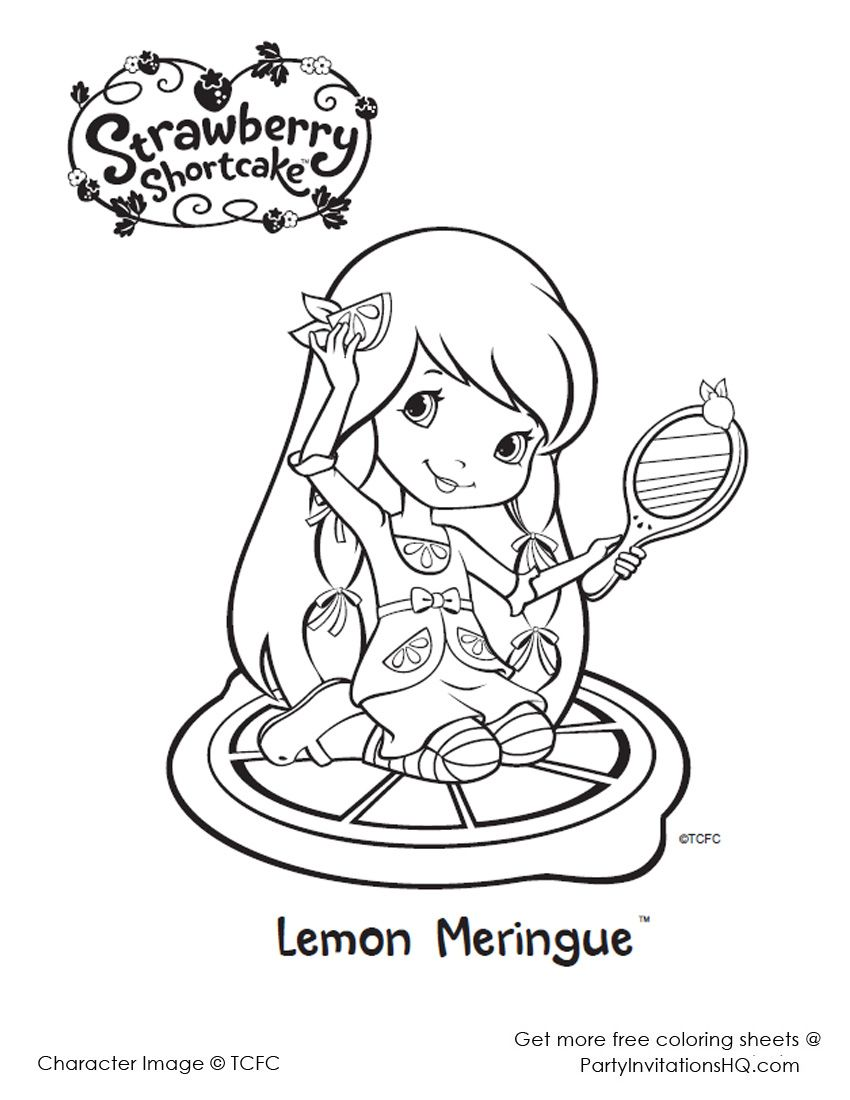 Coloring Pages Strawberry Shortcake And Friends | Strawberry ...