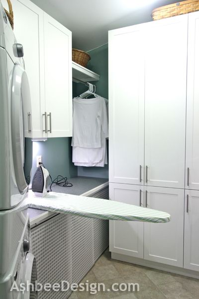 Ashbee Design Laundry Room Reveal The Ironing Board Solution