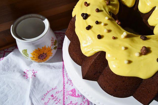 Bundt cake de chocolate y mango