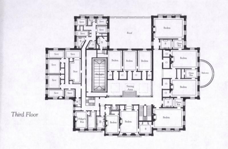 The Breakers 3rd Floor Gilded Age Mansions Dom Arhitektura Planirovki