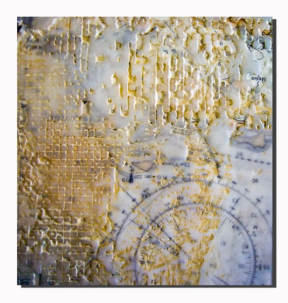 Nancy Donaldson   untitled   encaustic with mixed media /sm