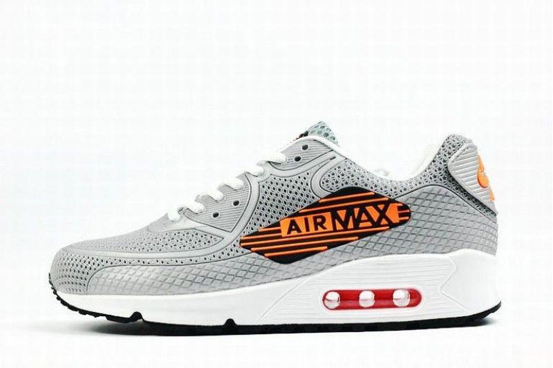 Mann Nike Air Max 90 Grau Weiss Schwarz Rot Orange Airmax Nike Air Max Nike Und Nike Manner