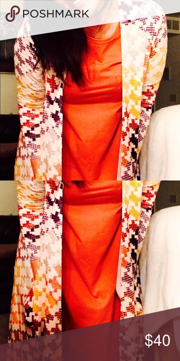 9a5a23d25d5e Lularoe Large Sarah with Small Orange Carly dress. Beautiful patchwork  Large Sarah, and Small orange Carly dress. Will separate, 20$ each Dresses  Midi