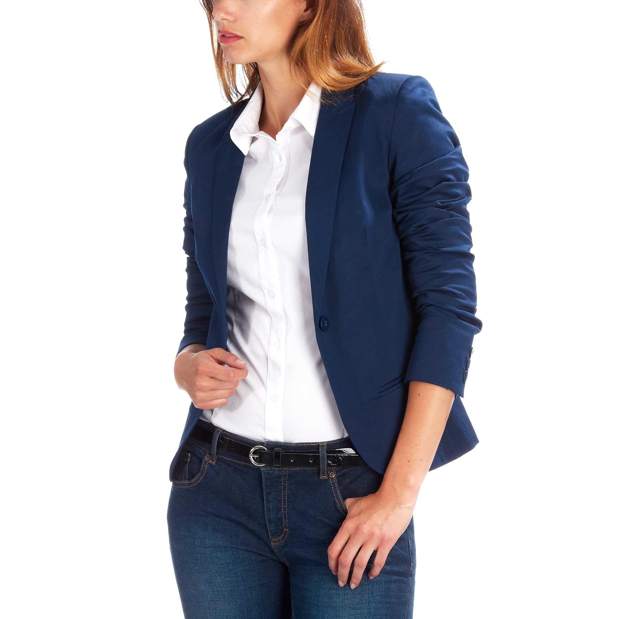 Veste bleu marine femme kiabi