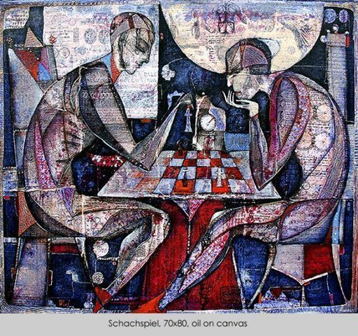 Художник Влад Сафронов народився 13 травня 1965 року в місті Харкові. Освіту здобув у Харківській художній академії з напрямку дизайн, яку закінчив в 1990 році. Після навчання працював спочатку викладачем на факультеті живопису і графіки ,а потім експертом в галереї Nella, Харків. У 1995 році Сафронов почав викладати живопис і малюнок в художній майстерні АРТ-Z, Аугсбург, Німеччина, в даний час він доцент. З 1997 року – вільний художник. Живе і працює в Німеччині.
